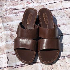 Rockport leather wide sandal